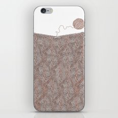 Knitting experience iPhone & iPod Skin