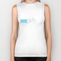 bicycles Biker Tanks featuring Light Bicycles by John Jurik