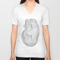 waves V-neck T-shirts featuring Waves by Maggie Dylan