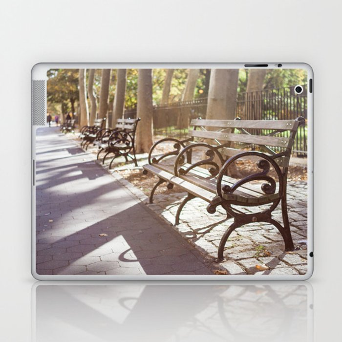 New York City Park Bench Moments Laptop Ipad Skin By