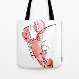 Lobstering watercolor Tote Bag
