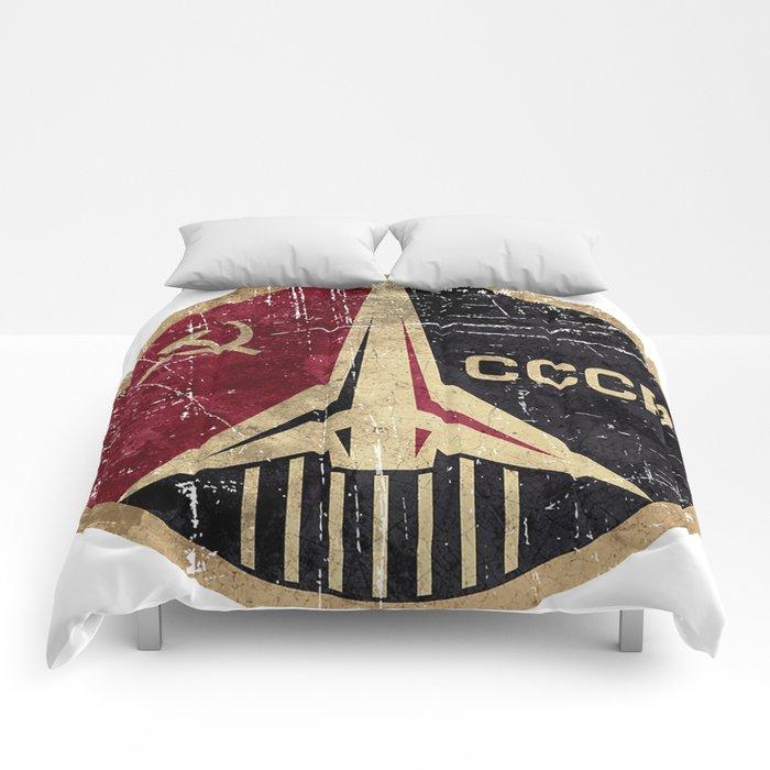 Russian Soviet CCCP Space Program Comforters