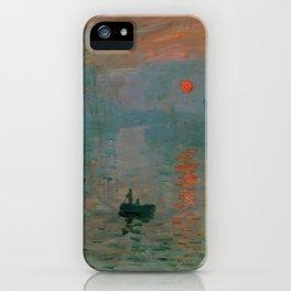 """Claude Monet """"Impression, Sunrise"""" iPhone Case"""