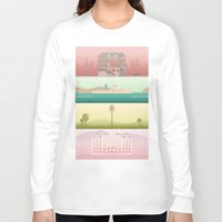 wes anderson Long Sleeve T-shirts featuring A Wes Anderson Collection by George Townley