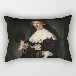Oopjen Coppit - Rembrandt van Rijn (1634) Rectangular Pillow