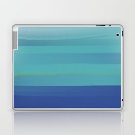 Impressions in Teal and Blue Laptop & iPad Skin