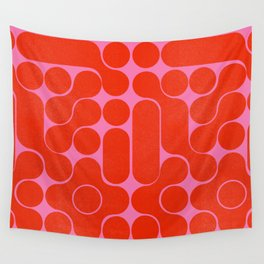 Abstract mid-century shapes no 6 Wall Tapestry