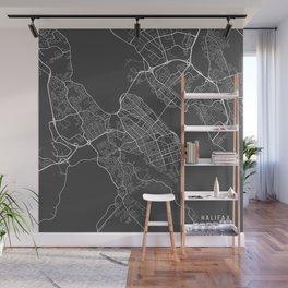 Halifax Map, Canada - Gray Wall Mural