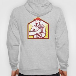 Heating and Cooling Refrigeration Technician Retro Hoody