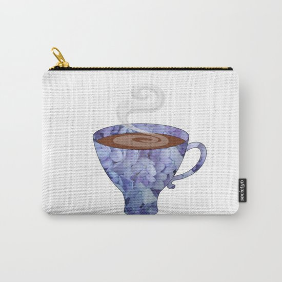 blue hydrangea espresso cup - coffee cup series Carry-All Pouch