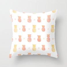 Fresh Summer Pineapple Throw Pillow