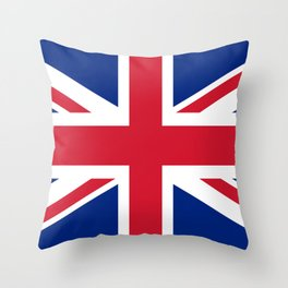 Union Jack, Authentic color and scale 1:2 Throw Pillow