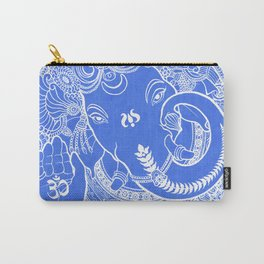 Ganesha Lineart Blue White Carry-All Pouch