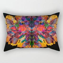 Dew Drop Rainbow Flower Rectangular Pillow
