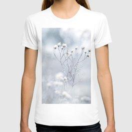 Hoarfrost plants in the meadow T-shirt