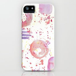 watercolor abstract iPhone Case