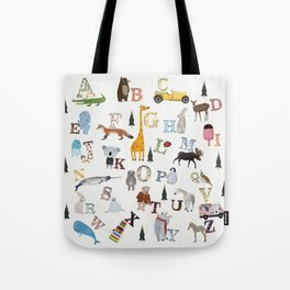 little nature alphabet Tote Bag