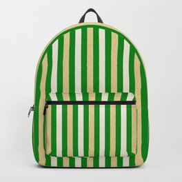 Green and Golden Vertical Backpack