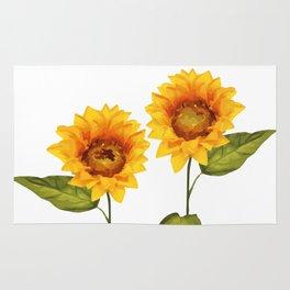 Sunflowers Illustration Rug