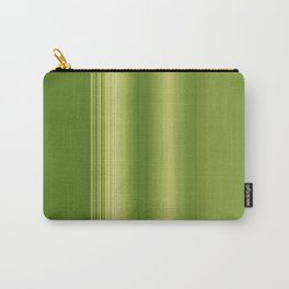 Olive Green Retro Stripe Carry-All Pouch