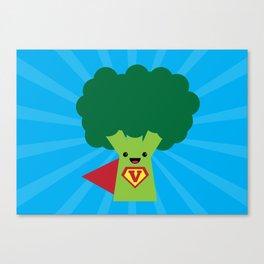 Super Broccoli Canvas Print