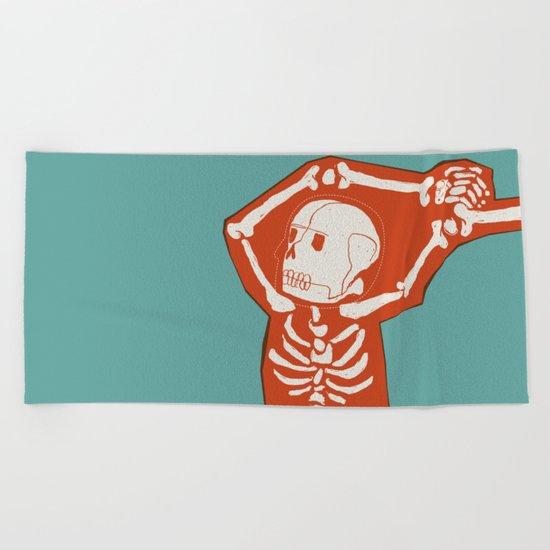 Overlay Skeleton Beach Towel