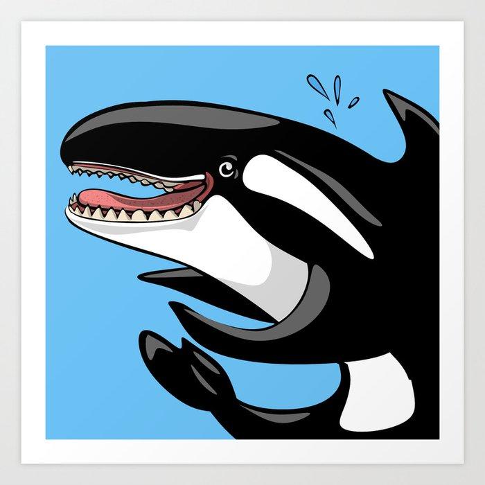 Happy Killer Whale Orca Art Print