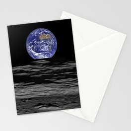Earth Rising over the Horizon of the Moon Stationery Cards