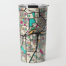 Colorful City Maps: Atlanta, Georgia Travel Mug