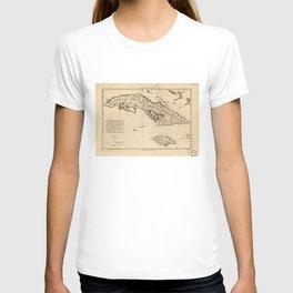 Islands of Cuba and Jamaica Map (1788) T-shirt