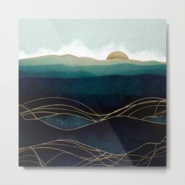 Indigo Waters Metal Print