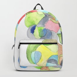 Life and Meaning 7| Abstract Watercolors Backpack