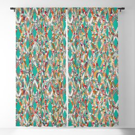 knot drop turquoise Blackout Curtain