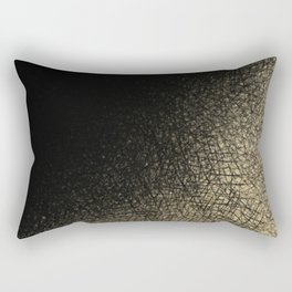 Modern abstract black gold watercolor brushstrokes Rectangular Pillow