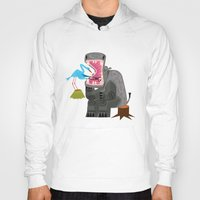 dentist Hoodies featuring Hippopotamouth by Oliver Lake