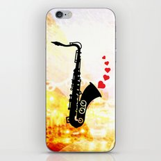 Sax and Love iPhone & iPod Skin