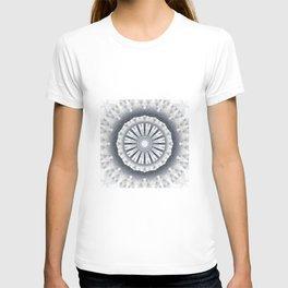 Silver Wedding Inspired Flower Mandala T-shirt
