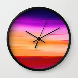 Painted Sunset Reflections Wall Clock