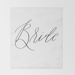 Lettered Bride Throw Blanket
