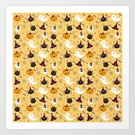 Halloween Twist - Pale Yellow Art Print