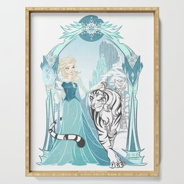 Frozen White Tiger Serving Tray