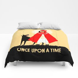 Little Red Riding Hood And The Big Bad Wolf - Classic Fairy Tale Poster Comforters
