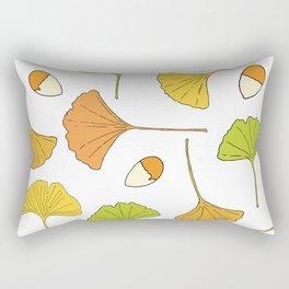 Ginkgo Tree Pattern Rectangular Pillow