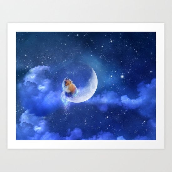 Moonfox Art Print