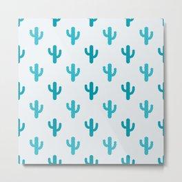 Cactuses Pattern Metal Print