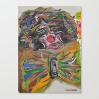 clown Canvas Prints featuring CLOWN  by Loosso