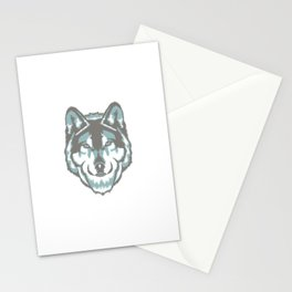 Two-Tone Wolf Stationery Cards