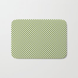 Peridot and White Polka Dots Bath Mat