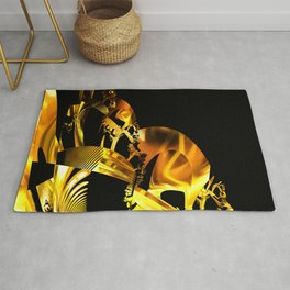 Abstract futuristic instrument Rug