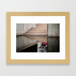 Stairwell After Flood Framed Art Print